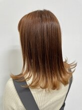ヘアーメイクアップ ケイズギャラリー(Hair makeup K's Gallery)オレンジグラデーション
