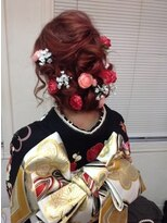 成人式ルーズ編み込みヘアー
