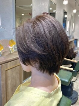 パームパム 熊谷店(Perm Pam)の写真/気になる白髪も髪や頭皮に優しくダメージレスにカラー♪明るめカラーも暗めカラーも思い通りの仕上がりに!