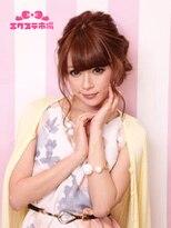 エクステ市場 渋谷本店 カラーランド【ヘアセット】ルーズな毛流れが可愛い♪ ワンサイド編み込み