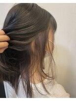 ヘアーメイク アフィーノ(hair make affino)ペールピンクバイオレットインナーカラー