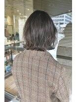 ヘアメイク シュシュ(Hair make chou chou)前下がり外ハネボブグレージュアッシュブラウン