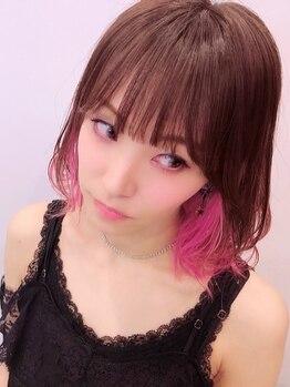 サイ(sai)の写真/【7時~24時】営業☆ダメージレスにこだわった大人も楽しめるデザインカラー。あなた史上一番似合う髪色を!