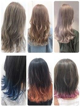 ソワン ドゥ ブレス 今里店(soin de brace)の写真/[ケアブリーチ]を使って髪へのダメージ軽減。綺麗な発色、透明感で理想の綺麗な髪色の仕上がりに♪
