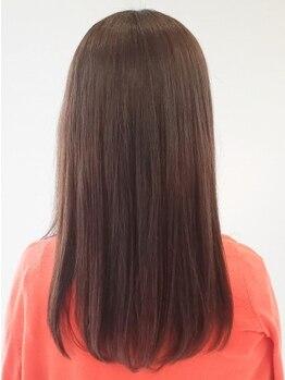 ヘアーヴィーヴル 松茂店(Hair BIVRE)の写真/クセに合わせた縮毛矯正でスタイリングしやすい髪に♪まっすぐなりすぎない自然なストレートヘアに☆