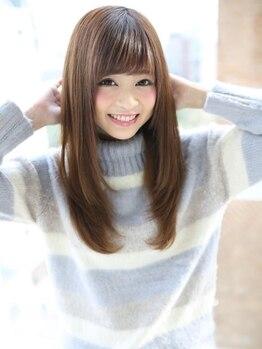 アグ ヘアー レーヴ 秋田市泉店(Agu hair reve)の写真/縮毛矯正で気になるクセが素直になる…シルクの様に柔らかな極上ストレート!理想のフォルムへ◎