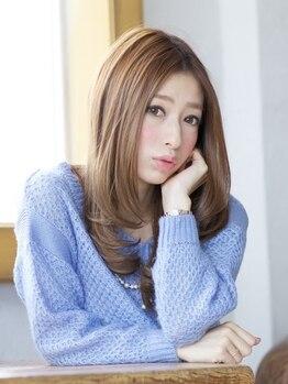 アンジェ(Ange)の写真/憧れのサラ艶ヘアになれるサロン[Ange]髪質に合わせて選べるTrで、髪をいたわりながらオシャレが楽しめる♪