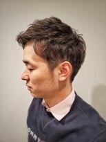 トコヤ ニュースタンダード オブ メンズヘアサロン(tokoya)メンズアップバングパーマスタイル tokoya江ヶ崎