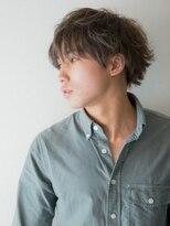 メンズ ピノ(Men's PINOT)#ビジカジ★#セミウェット外ハネ★#メンズミディSTYLE