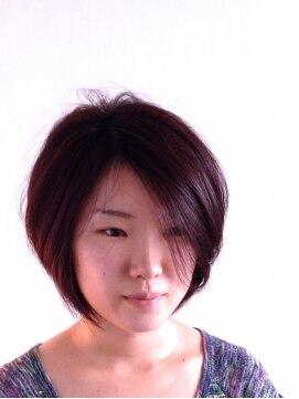 ヘアーカーブ(haircarve)haircarve秋冬・ダージリンブラウン・ミニマムボブ