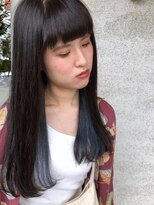 ヘア プロデュース キュオン(hair produce CUEON.)インナーカラー × ブルー