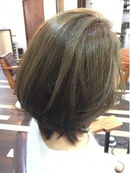 マブヘアーアンドメーク(mab hair&make)の写真/艶やかでみずみずしい仕上がりで印象UP☆美人になれちゃう潤艶カラーは《mab》にお任せ♪グレイヘアにも◎