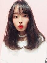 『シースルーバング×ツヤLONG』でKorean Style