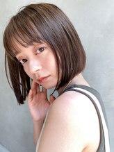エイチ(H eitf)20代30代 / 前髪カット【エアリーミディ】オリーブカラー