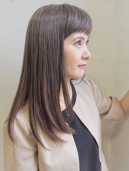 ヘアーアンドケア マーレ(hair&care mare)の写真/細やかなこだわりで、ダメージを最小限に抑えた自然なストレートに…!手触り柔らかな艶髪を手に入れて★