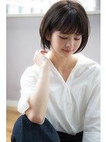 黒髪でも柔らか小顔ショートボブ☆首もとスッキリ【國武さゆり】