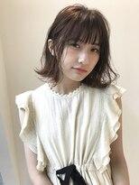 コクーン(Cocoon)【SHUN】切りっぱなしピンクベージュミディ #外ハネ#ワンカール