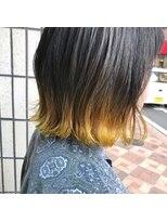 ヴィークス ヘア(vicus hair)裾カラー×イエロー by 井上瑛絵