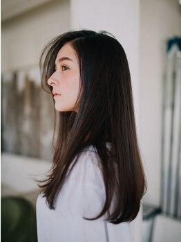 アーバニア 水天宮前(URBANIA)の写真/【髪質改善コース】質感までも自然なストレートに。[TOKIOトリートメント+カット+縮毛矯正¥17000]