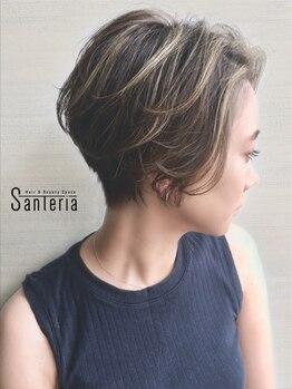 サンテリア(Santeria)の写真/巧みな技術×繊細なカット★今季は思い切ってショートにイメチェンして、新たな自分と出会ってみませんか?