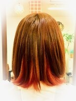 インナーカラーで潤いオレンジカラー