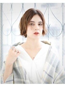 ヘアアンドメイク エジェリ(hair&make egerie)うざバング☆前下がりショートボブ