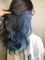 ビヨンド(beyond)インナーカラー×ブルー
