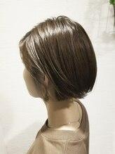 ローグ ヘアー 金町店(Rogue HAIR)ローグヘアー【TAKA】大人かわいい小顔耳かけオリーブカラーボブ