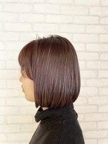 ビス ヘア アンド ビューティー 西新井店(Vis Hair&Beauty)10代20代切りっぱなしボブ×ベリーピンク♪