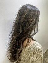 フローレス バイ ヘッドライト 三鷹店(hair flores by HEADLIGHT)時短バレイヤージュカラー(ベージュ系ハイライト)