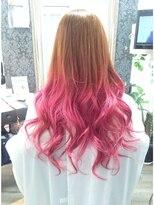 ヘアーグランデシーク(Hair Grande Seeek)人気♪ピンクグラデーションcolor(^^)