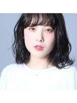 ヘアーアイス(HAIR ICI)【HAIR ICI】 黒髪ミディアムボブ