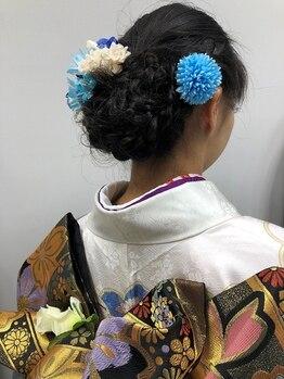 ジュニア HAIR FACTORY Juniorの写真/成人式、卒業式、結婚式…どんな着付けでもお任せ下さい!ヘアも一緒にセットしてパーフェクトな着物姿へ♪
