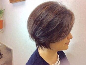 ヘアメイク モニカ(Hair Make Monica)の写真/☆世界初!カット技術で特許取得☆『小顔補正立体カット』で綺麗な後頭部の丸みを作り、外国人風スタイルに