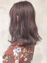 ピンクパープル_黒髪ベリーショートイルミナカラー_ba134162