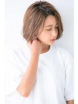 ユーフォリアギンザ(Euphoria GINZA)丸みショート 3Dカラー小顔 エッジショートボブ 担当畑
