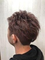 アルファ ヘアー デザイン(alpha hair design)ピンクバイオレット ツーブロック ショート