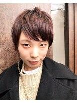 コレット ヘアー 大通(Colette hair)深赤茶×シャープショート