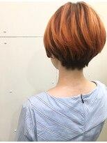 ラフ(La.a.g.f)オレンジマッシュショートヘアー