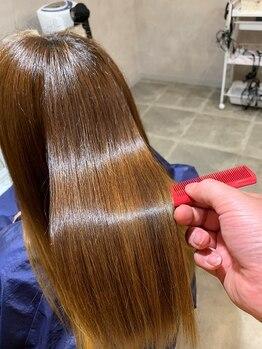 オルソーヘアー(orso hair)の写真/【ウル艶orso酸熱トリ+カット+高分子スチーム¥8800】酸のチカラで毛髪強度を高めハリ、コシ、ツヤを実現