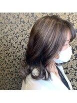 ヘアー コパイン(HAIR COPAIN)ハイライトたっぷりグレージュカラー 熊本/並木坂/上通り/中央区