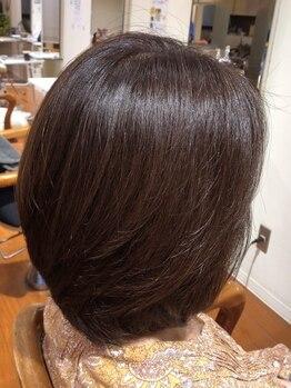 ネクサス アット(NEXUS-at)の写真/【白髪染め+ツヤ髪カラーエステ】髪を強く美しく変えるツヤ髪カラーエステ◎若々しさが続く髪へ
