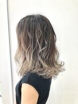 ヘアー ライズ(hair RISE)バレイヤージュシルバーアジアンカラーアッシュハイライト