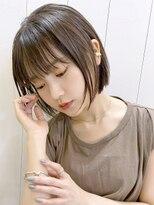 アルバム シンジュク(ALBUM SHINJUKU)ストレートボブ_カーキグレージュマッシュショート_58118