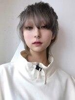 アルバム シンジュク(ALBUM SHINJUKU)メンズナチュラルウルフ_オリーブカラーハイライトカラー_68109