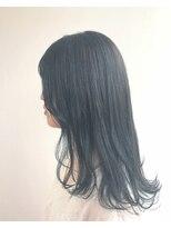 ヘアメイク オブジェ(hair make objet)オルチャン風 ダークブルー