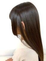フェイスレイヤー姫カットロングストレート/美髪ツヤ髪/サラサラ