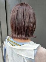 ヘアーアイスカルテット(HAIR ICI QUARTET)ココアブラウン 切りっぱなしボブ 外はね仕上げ