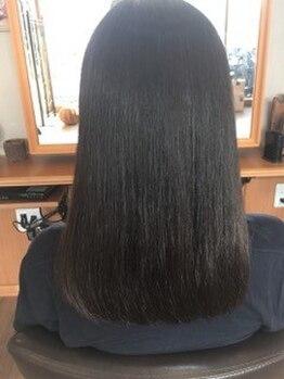 ルークス 中央林間(LOOOKS)の写真/【くせ毛や広がる髪のお悩み解決】コスメストレートで柔らかい豊富なトリートメントでさらっと仕上がりに♪
