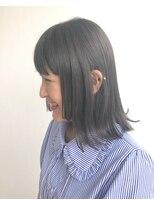 ヘアメイク オブジェ(hair make objet)グレージュ ボブ